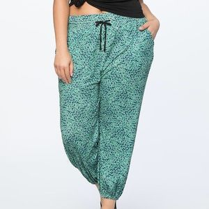 New! Eloquii printed joggers size 14
